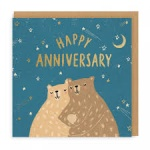 10 SQUARE CUTE BEARS CARDS