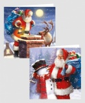 10 SQUARE OUTDOOR TRAD SANTA CARDS