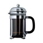 3-cup plunger coffee maker, Chrome