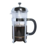 8-cup plunger coffee maker, Chrome