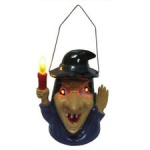 36'' ELECTRONIC WITCHES BROOM   W/PRESS BUTTON IC WITCH SOUND