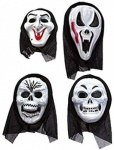 Asst blister horror masks with hood