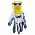 Rolson Tools Grey Nitrile Coated Work Gloves Large 60637