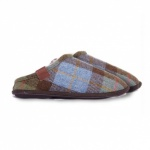 MENS LARGE CHECK FULL SLIPPER