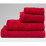 premier  collection face cloth  deep red