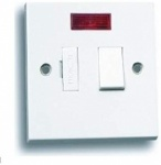 1 gang - Spur Switch - 13 amp Fused - Connection Unit - Switched - Neon Indicator - White - Status - 1 pk