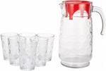 Pasabahce 7pc Rings Beverage Set 1.7Lt