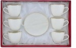 220cc Porcelain Tea Cup & Saucer 12pc set