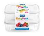 EASY PACK CONTAINERS-WHITE LID