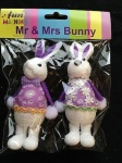 35CM TRADITIONAL MR & MRS BUNNY