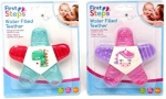 2 COLOUR WATER FILLED TEETHING RINGS WITH PANELS (FS655)