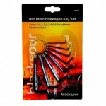 Blackspur 8pc Hexagon Key Wrenches (Mm)