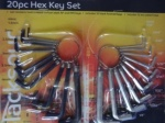 Blackspur 20pc Hex Key Set Blackspur
