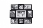 56 x 43 Plastic 9 multi photo frame white
