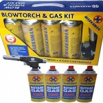 5 pc blow torch kit with butane gas