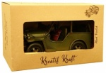 Rolson army jeep metal ornament 84093