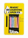 10 magic candles with holder 6cm colours asst