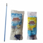 MIXED ECONOMY MOPS WITH HANDLES PACK OF 10