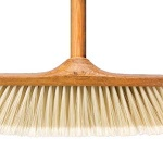 Wood Effect Broom with Handle - Soft