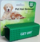 Gett Off Rubber Pet Hair Remover Brush Cats Dogs Carpet Car Seats Sofa
