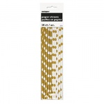 10 GOLD DOT PAPER STRAW