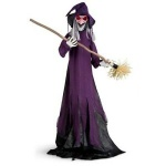 ANIMATED WITCH PURPLE W/BROOM