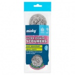 Minky Ultra Power Stainless Steel Scourers 3pk (TT41000301)