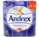 Andrex Supreme Quilted Toilet Paper PM £2.50 4pk X 6