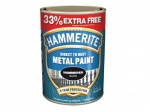 Hammerite Metal Paint Hammered - Black - 750ml + 33% = 1L Tin (5158237)