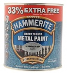 Hammerite Metal Paint Hammered - Silver - 750ml + 33% = 1L Tin (5158236)