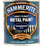 Hammerite metal paint hammered blue 750ml (5092938)