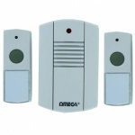 Omega Cordless Portable Plug In Door Chime Set (17622)