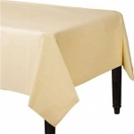 Plastic Table Cover 54 x 108 - Vanilla Cream