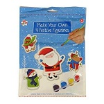 XMAS XACT, 4PK FESTIVE FIGURINES (PAINT YOUR OWN)XXMMYF