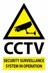 Stick On 50mm x 200mm 'CCTV in operation'