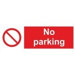 Stick On 50mm x 200mm 'No Parking' (large Sign)