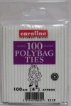 Caroline 100mm Poly Bag Ties 100pc (1117)