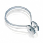 Croydex Button Ring Hook - Clear
