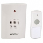 Omega Battery Door Chime Weatherproff White Rcdc-03 Cordless  LED Illuminated