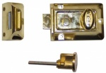 Era 60mm Tradition Door Lock Brass/ Brass Cyl.Card