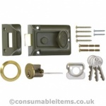 Era 60mm Tradition Door Lock Carded Green/Brass Cyl. Card
