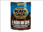 Everbuild All Weather Roof Coating Compound Finish Paint Seal Black 5Ltr