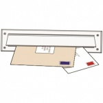 Internal Letterbox Draught Seal + Flap White