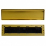 Internal Letterbox Draught Seal + Flap Gold