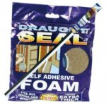 Extra Thick Draught Seal Self Adhesive Foam 5m Brown
