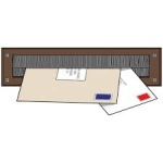 Internal Letterbox Draught Seal Brown