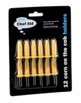 Chef Aid Corn Cob Forks - 12Pack Carded