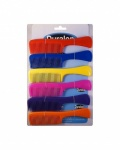 Duralon 7.5'' Handle Comb Coloured Card of 12 (61842)