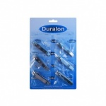 Duralon Toe Nail Clippers Card of 6 (2144)