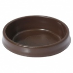 Large Castor Cups Brown pk4 (S5392)